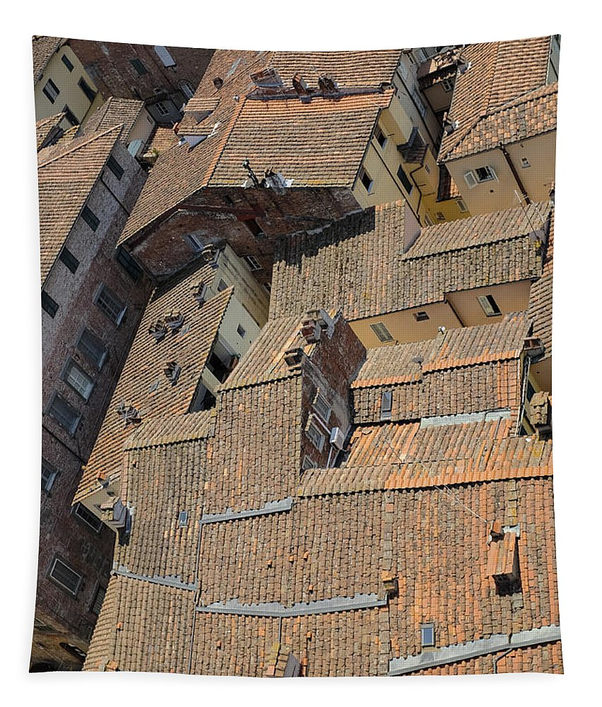 Lucca Tapestry featuring the photograph Lucca Italy by Edward Fielding