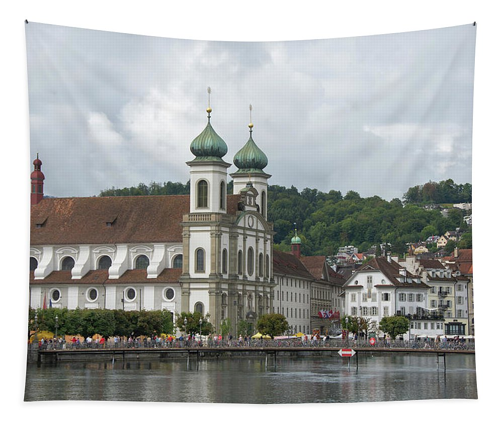 Lucerne Tapestry featuring the photograph Lucerne Switzerland by Eleanor Bortnick
