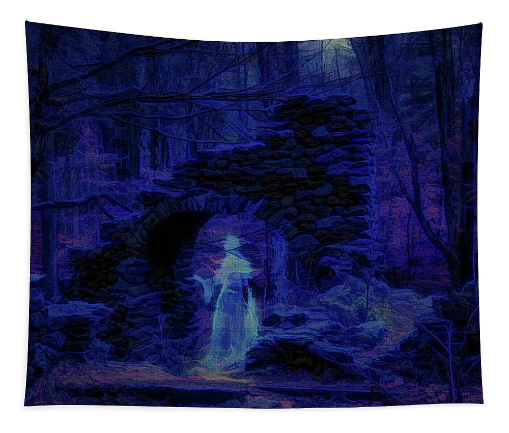 #vistaphotography Tapestry featuring the photograph Madame Sherris Castle Ruins by Jeff Folger