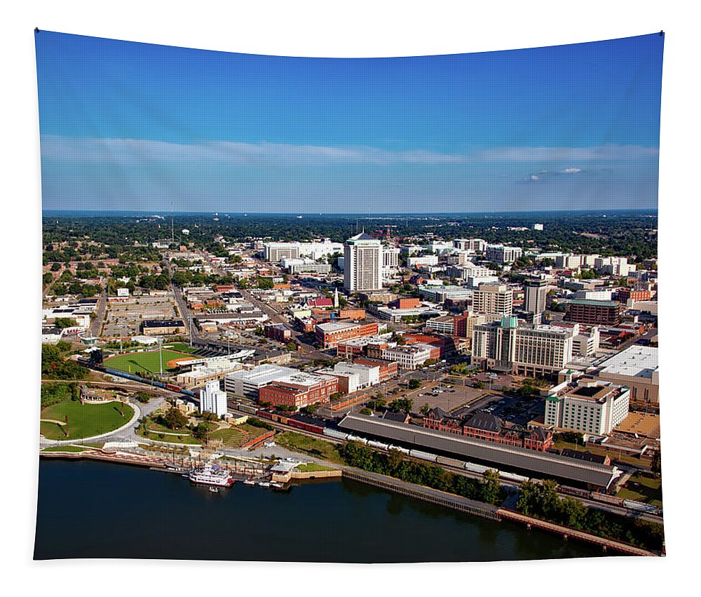 Montgomery Tapestry featuring the photograph Montgomery Alabama by Mountain Dreams