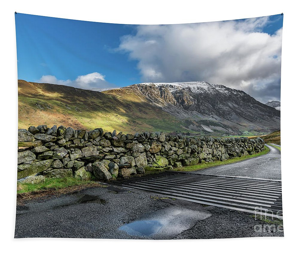 Landscape Tapestry featuring the photograph Nant Ffrancon Pass by Adrian Evans