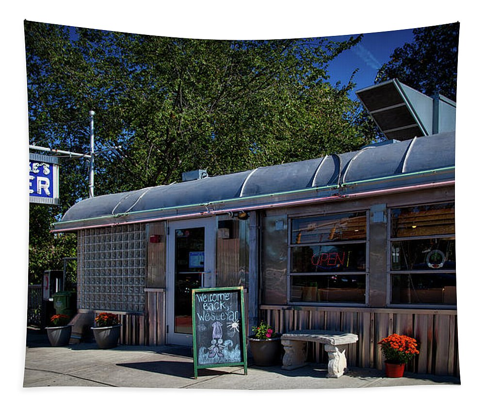 O'rourke's Diner Tapestry featuring the photograph O'rourke's Diner by Mountain Dreams