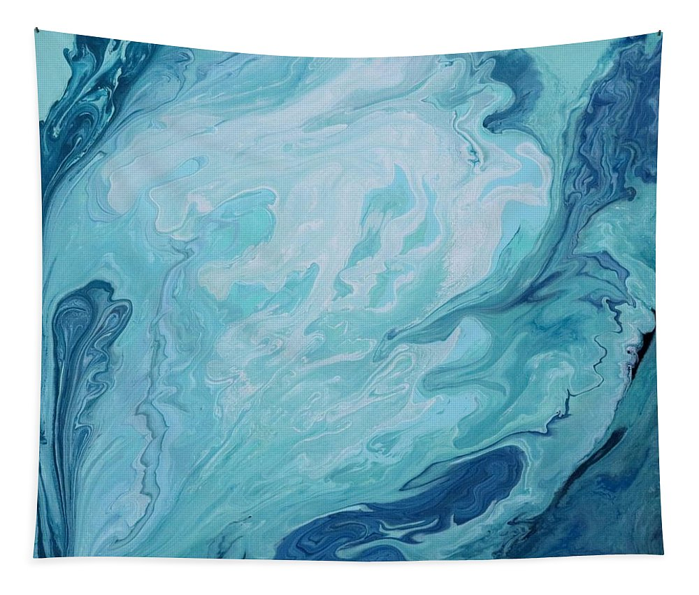 Abstract Tapestry featuring the painting #2 Pacific Ocean Series by Carole Sluski