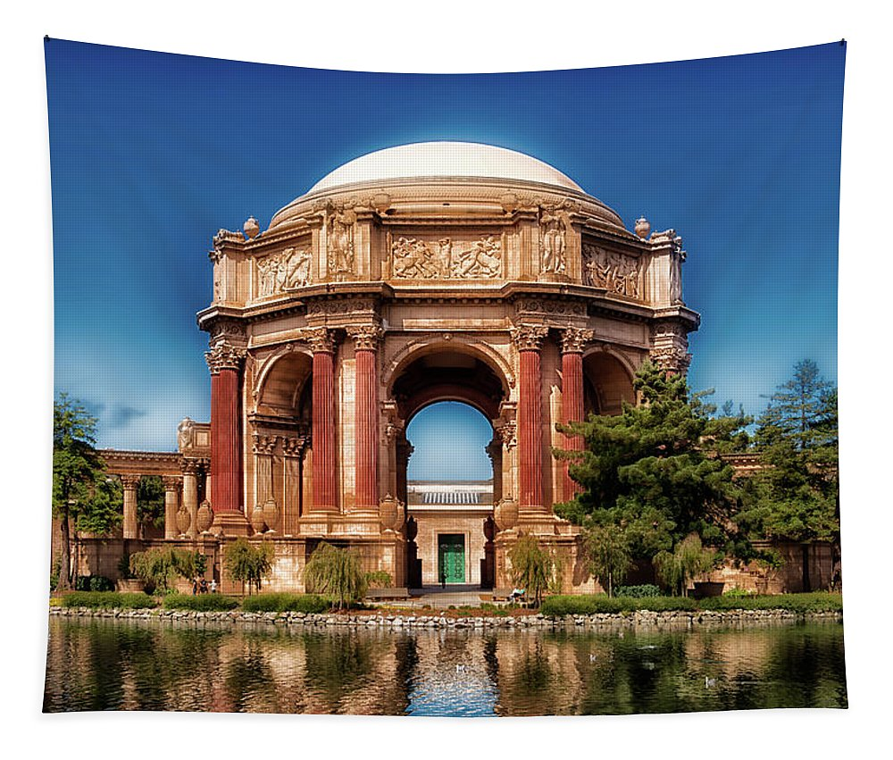 Palace Of Fine Arts Tapestry featuring the photograph Palace Of Fine Arts by Mountain Dreams