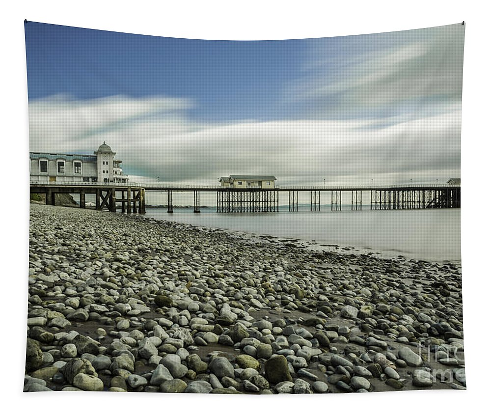 Penarth Pier Tapestry featuring the photograph Penarth Pier 6 by Steve Purnell