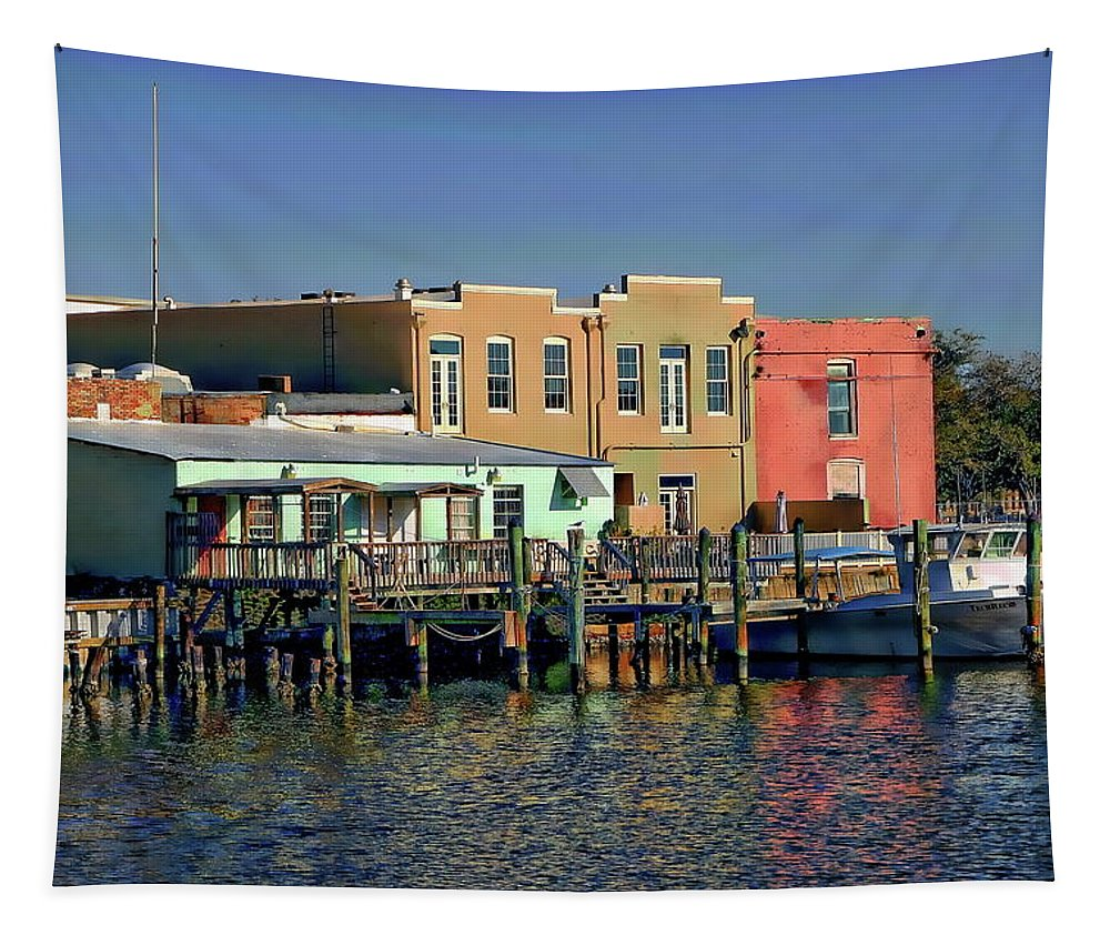Building Tapestry featuring the photograph Pensacola Bay by Anthony Dezenzio