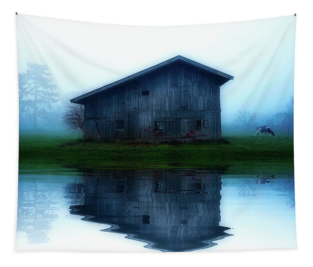 Sunrise Tapestry featuring the photograph Reflective Morning by Pixabay