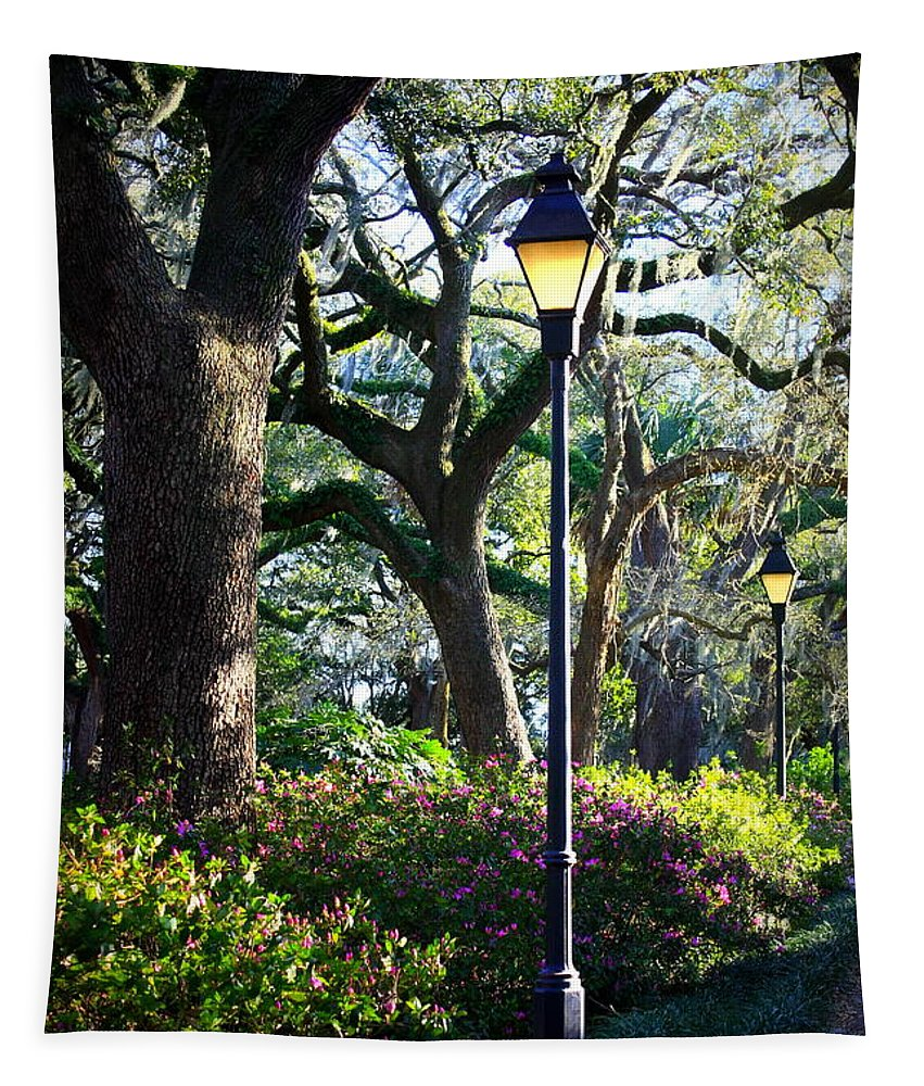Savannah Tapestry featuring the photograph Savannah Spring Perspective by Carol Groenen