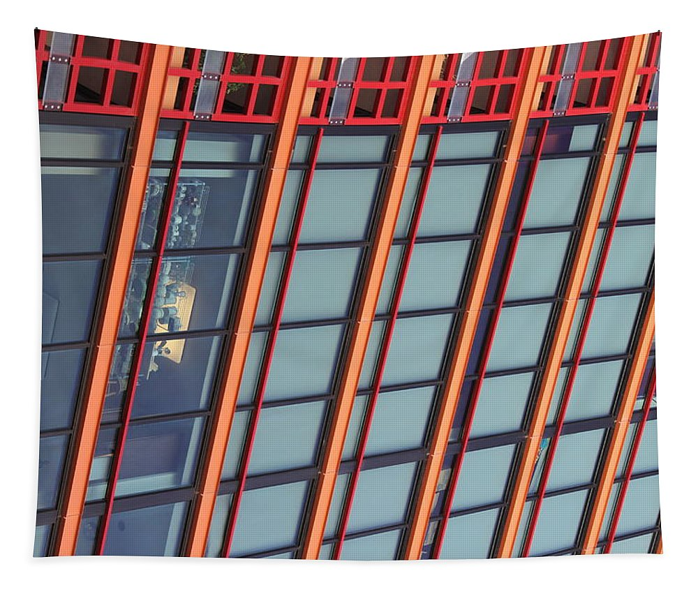 Tall Building Showing Colors #2 Tapestry featuring the digital art Tall Building Showing Colors #2 by Tom Janca