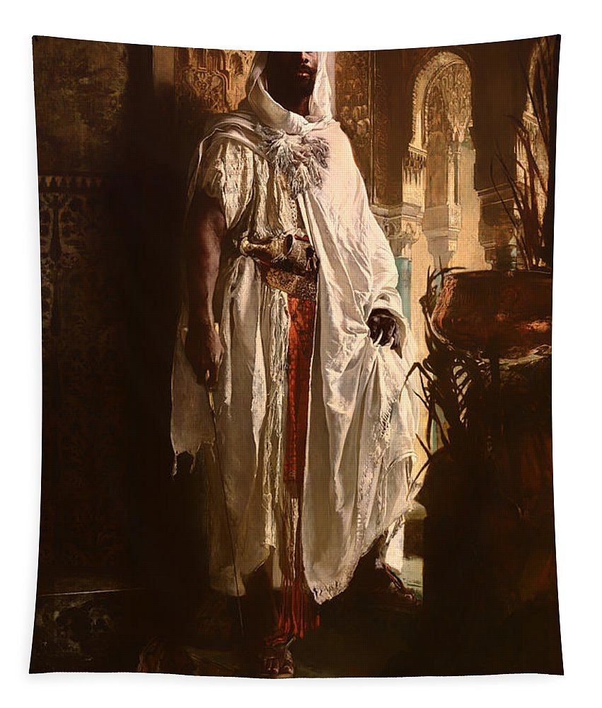 Painting Tapestry featuring the painting The Moorish Chief by Mountain Dreams