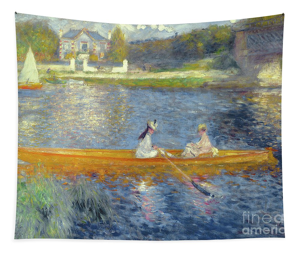 Renoir Tapestry featuring the painting The Skiff by Pierre Auguste Renoir