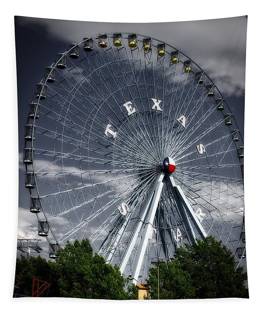 Texas Star Tapestry featuring the photograph The Texas Star by Mountain Dreams