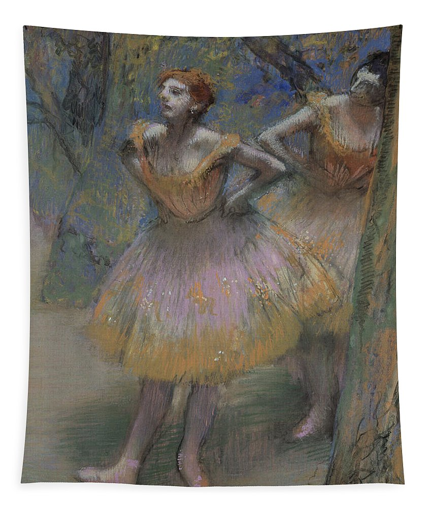 Degas Tapestry featuring the pastel Two Dancers by Edgar Degas