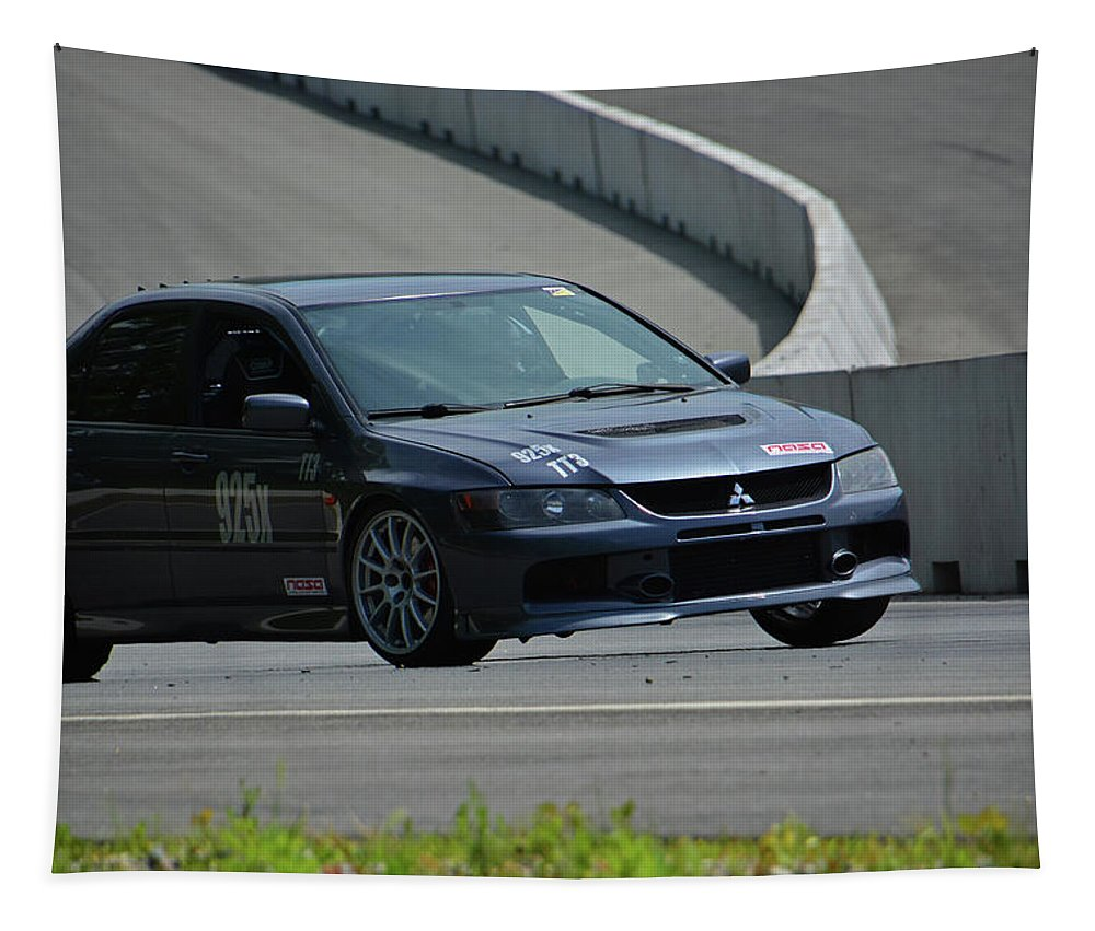 Mitsubishi Tapestry featuring the photograph 2006 Mitsubishi Evo by Mike Martin