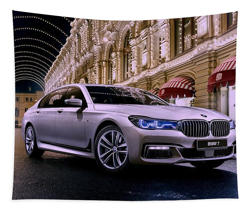 Bmw Tapestry featuring the photograph 2017 Bmw M7 by Movie Poster Prints