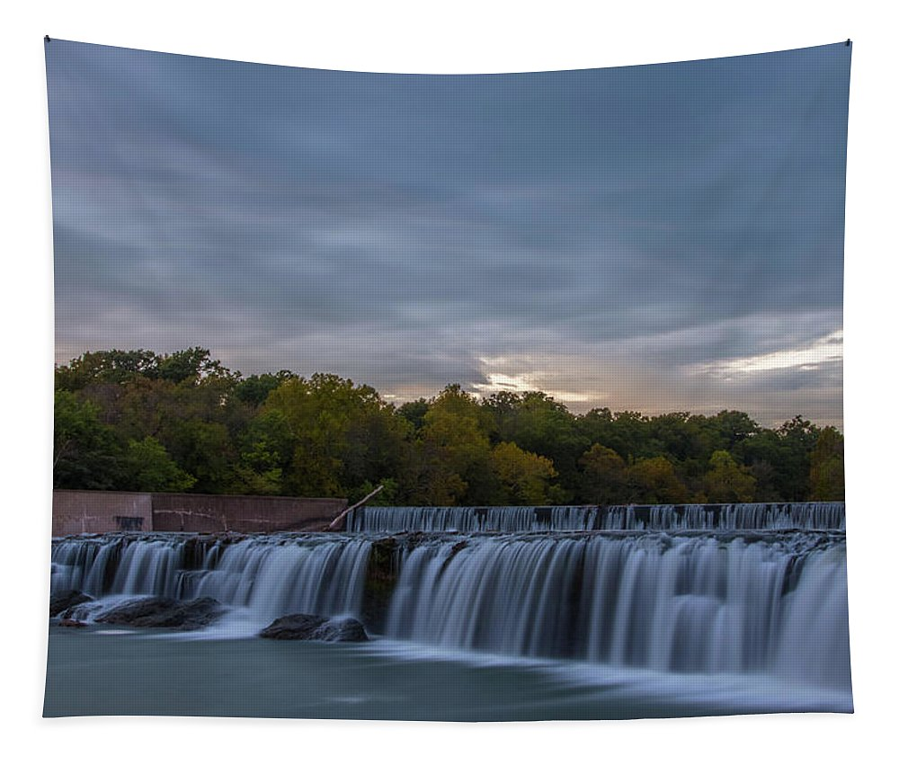 Parks Tapestry featuring the photograph Grand Falls Waterfall by Michael Munster