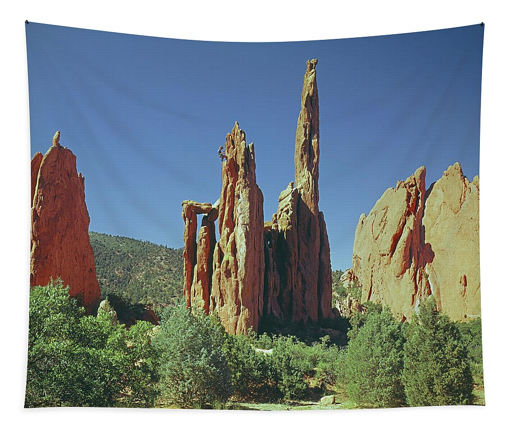Spires Tapestry featuring the photograph 210806-h Spires In Garden Of The Gods by Ed Cooper Photography