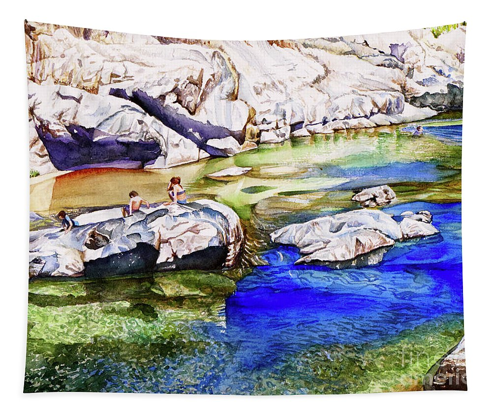 River Tapestry featuring the painting #211 South Yuba River by William Lum
