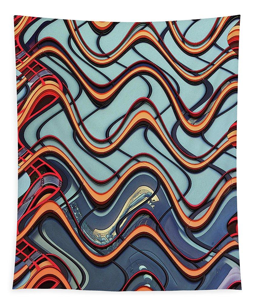 24th Street Tall Building - Phoenix Tapestry featuring the digital art 24th Street Tall Building - Phoenix by Tom Janca