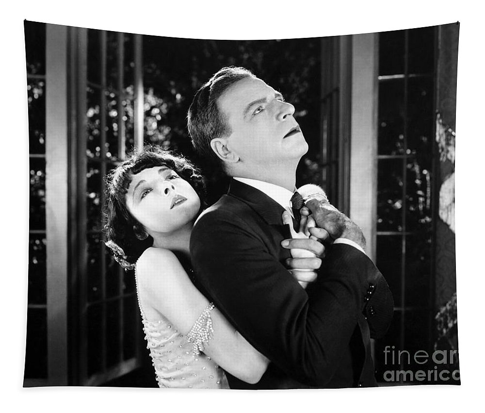 -couples- Tapestry featuring the photograph Silent Film Still: Couples by Granger