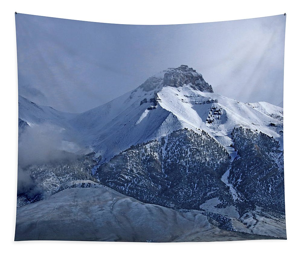Fresh Snow Tapestry featuring the photograph 2d07513 Fresh Snow On Mt. Mccaleb by Ed Cooper Photography