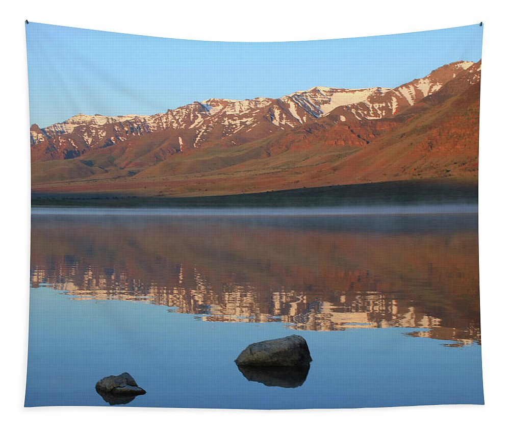 Sunrise Tapestry featuring the photograph 2da5931 Steens Mountain Sunrise Reflect by Ed Cooper Photography