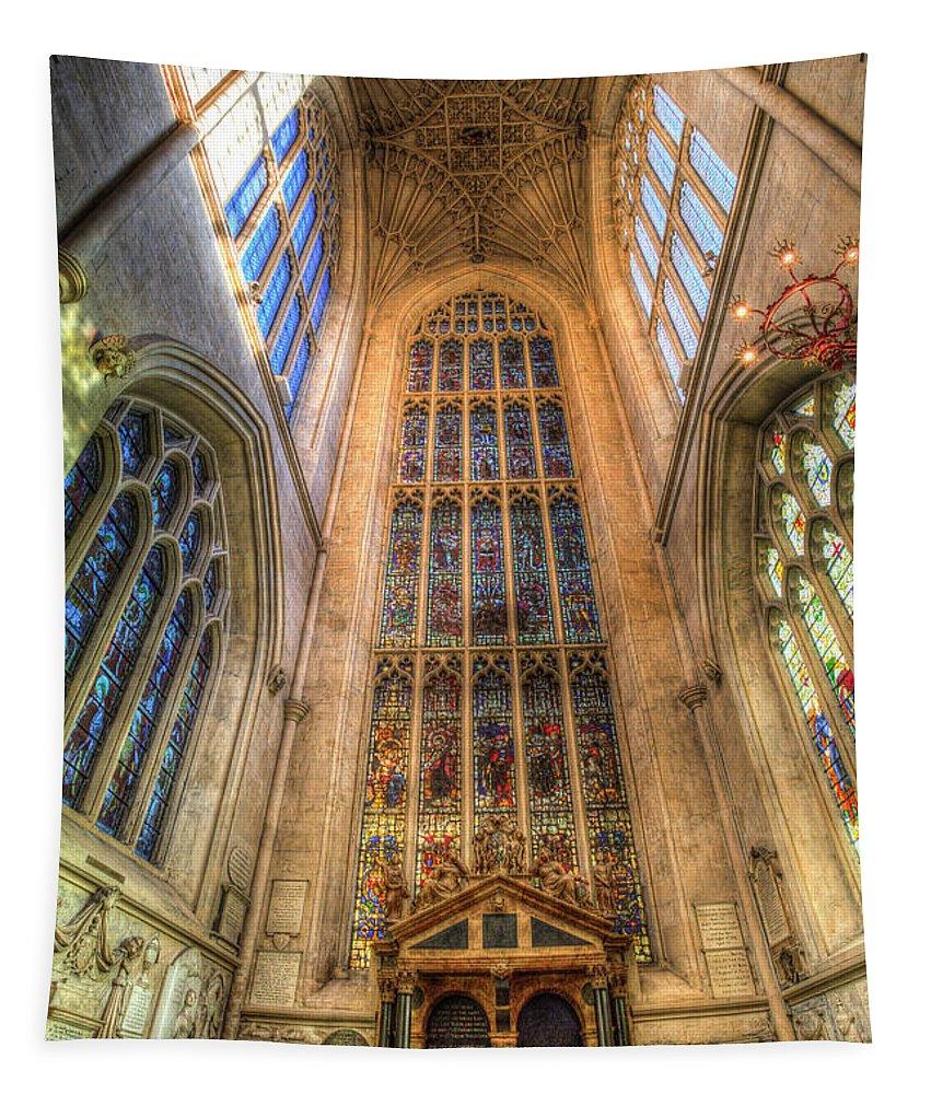 Bath Abbey Tapestry featuring the photograph Bath Abbey by David Pyatt