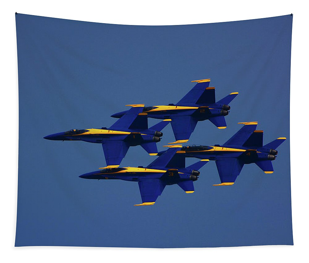 Blue Angels Tapestry featuring the photograph Blue Angels by Raymond Salani III