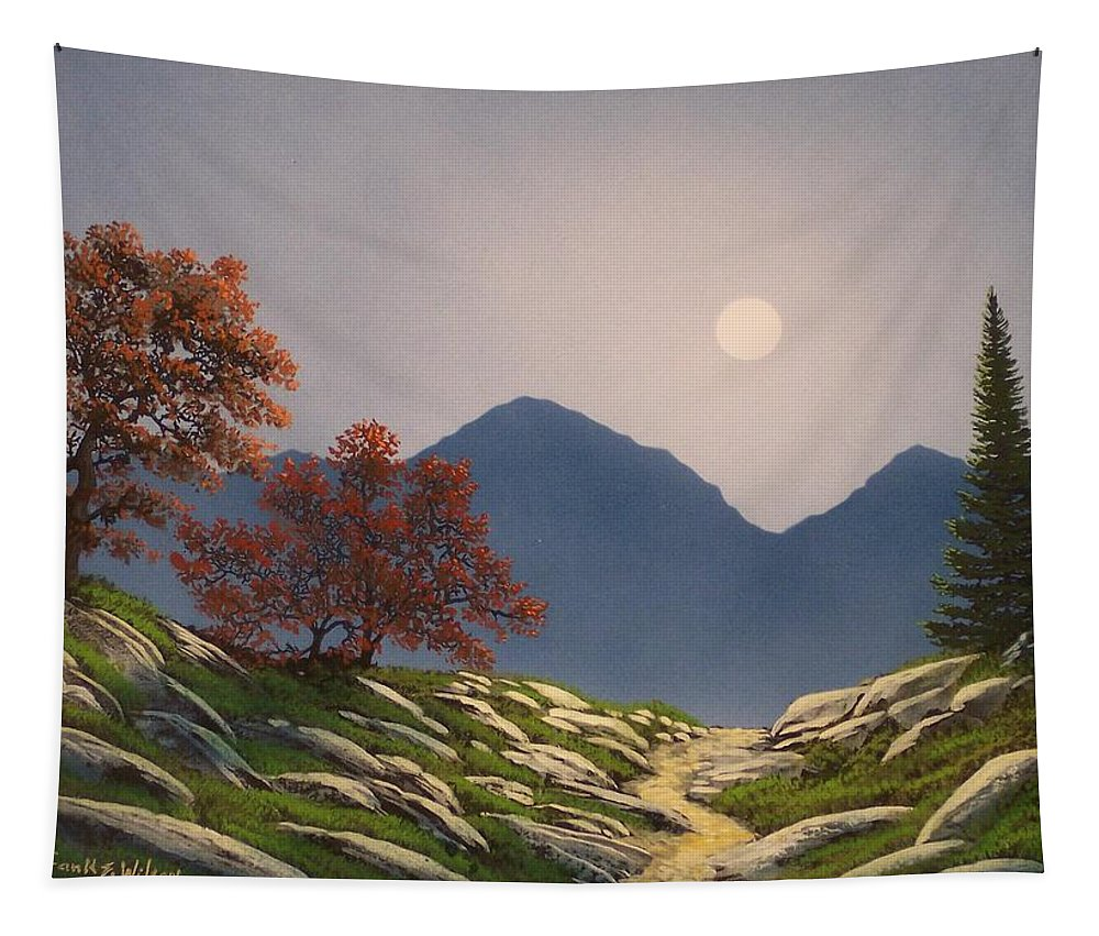 Mountains Tapestry featuring the painting By The Light Of The Moon by Frank Wilson