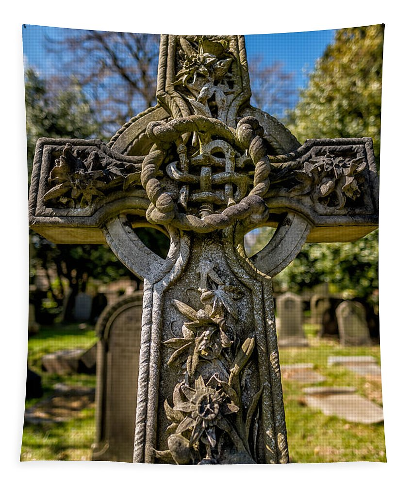 Celtic Cross Tapestry featuring the photograph Celtic Cross by Adrian Evans