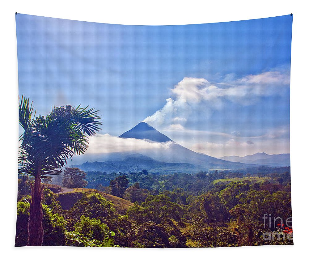Volcano Tapestry featuring the photograph Costa Rica Volcano by Madeline Ellis