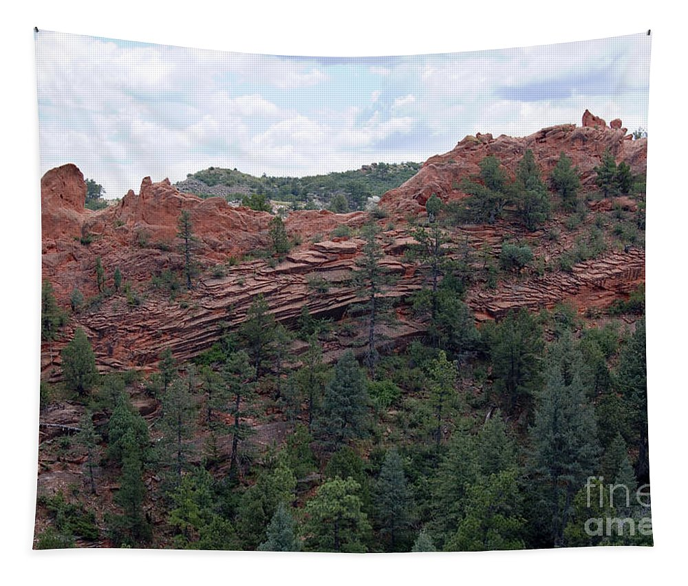Red Rock Tapestry featuring the photograph Hiking The Mesa Trail In Red Rocks Canyon Colorado by Steve Krull
