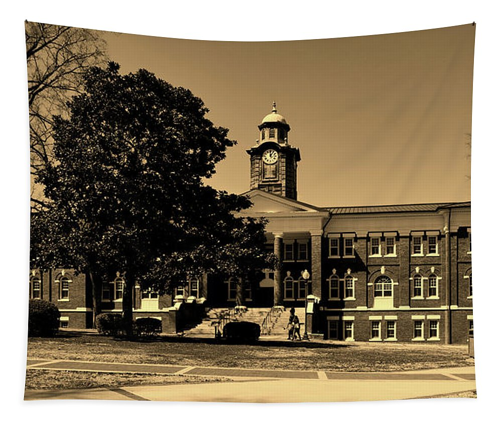 Tuskegee University Tapestry featuring the photograph Historic White Hall - Tuskegee University by Mountain Dreams