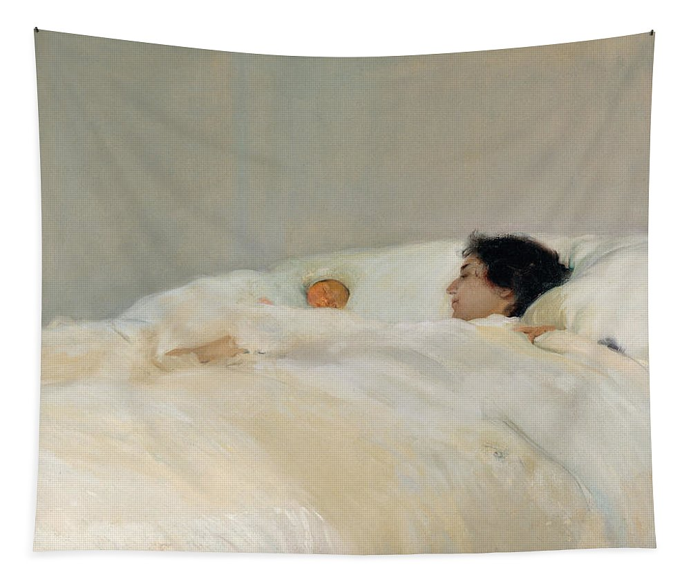 Mom Tapestry featuring the painting Mother by Joaquin Sorolla y Bastida