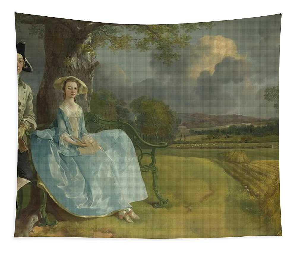 Painting Tapestry featuring the painting Mr And Mrs Andrews by Mountain Dreams