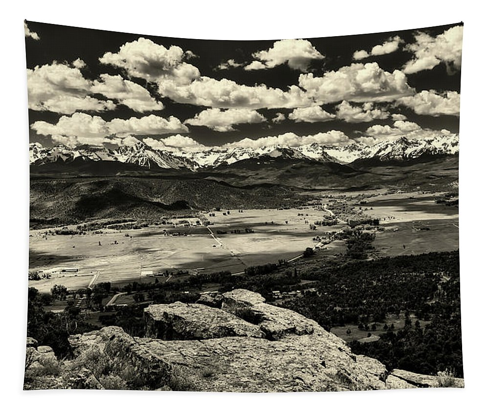 Pleasant Valley Tapestry featuring the photograph Pleasant Valley Colorado by Mountain Dreams