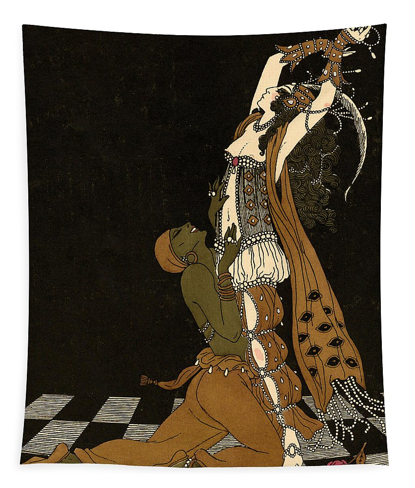 Scheherazade Tapestry featuring the painting Scheherazade by Georges Barbier