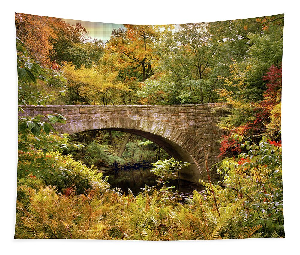 Bridge Tapestry featuring the photograph Stone Bridge by Jessica Jenney