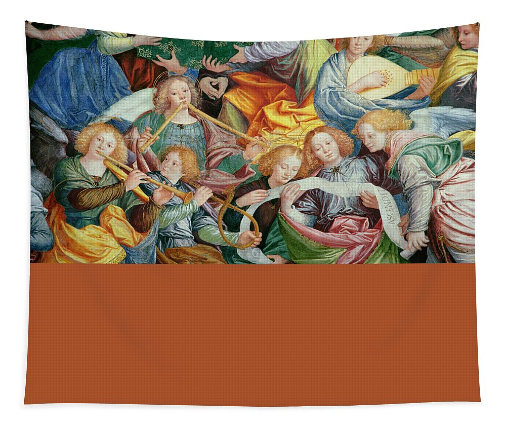 Concert Tapestry featuring the painting The Concert Of Angels by Gaudenzio Ferrari