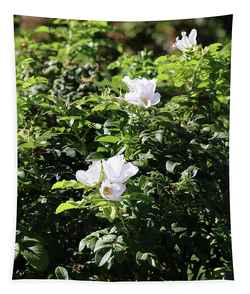 White Tapestry featuring the photograph White Flowers by Michael Munster