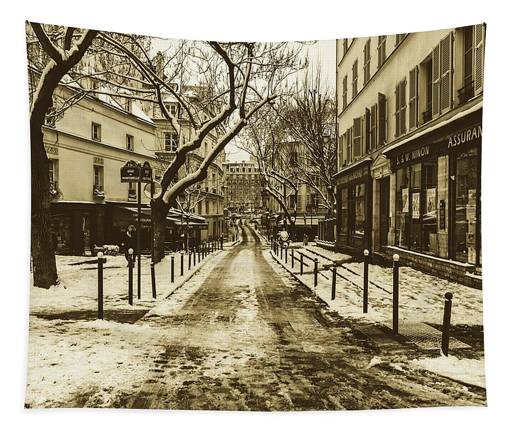 Paris Tapestry featuring the photograph Winter In Paris by Pixabay