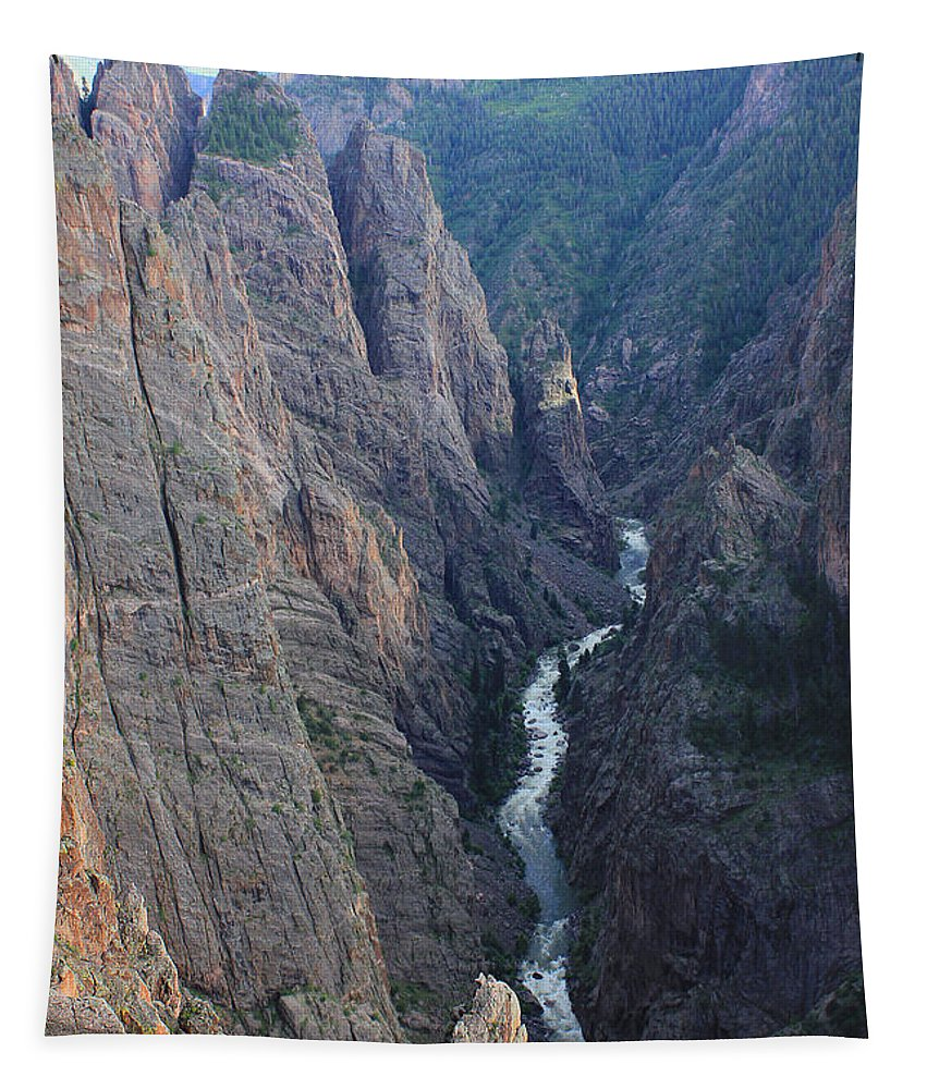 Narrows View On North Rim Tapestry featuring the photograph 3d10307 Narrows View On North Rim by Ed Cooper Photography