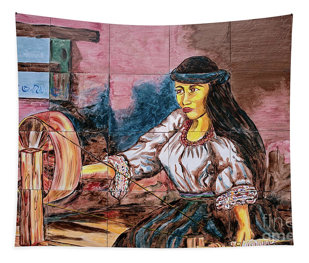 Ecuador Tapestry featuring the photograph Artisan Market In Quito by Ralf Broskvar