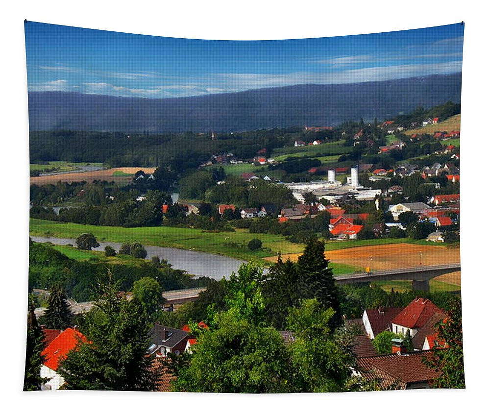 Valley Tapestry featuring the photograph Bavarian Landscape by Anthony Dezenzio