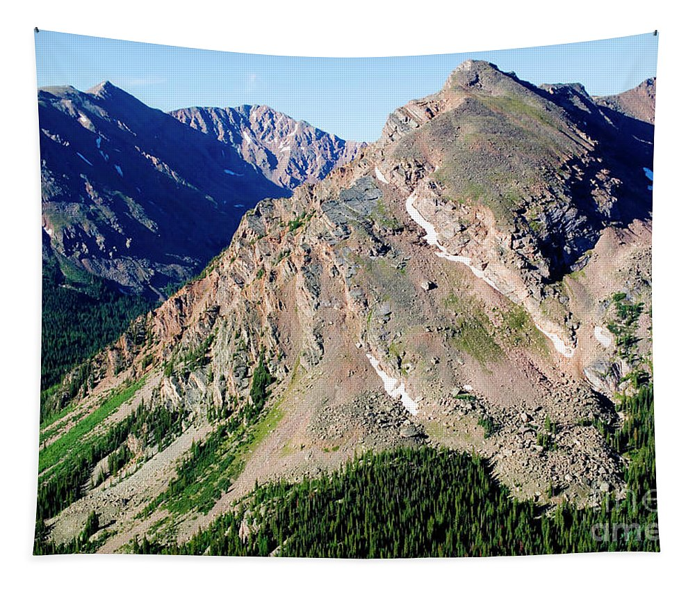 Mount Massive Tapestry featuring the photograph Hiking The Mount Massive Summit by Steve Krull
