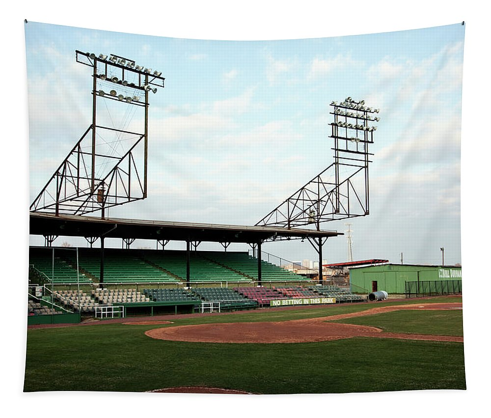 Rickwood Field Tapestry featuring the photograph Historic Rickwood Field by Mountain Dreams