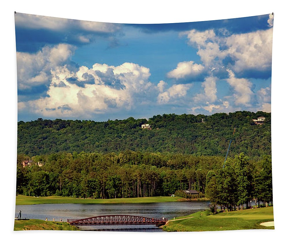 Ross Bridge Golf Course Tapestry featuring the photograph Ross Bridge Golf Course - Hoover Alabama by Mountain Dreams