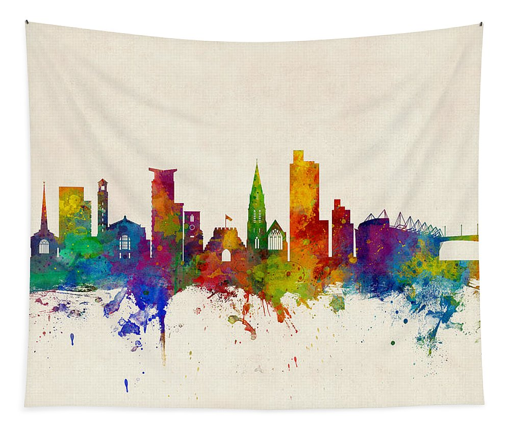 City Tapestry featuring the photograph Southampton England Skyline by Michael Tompsett