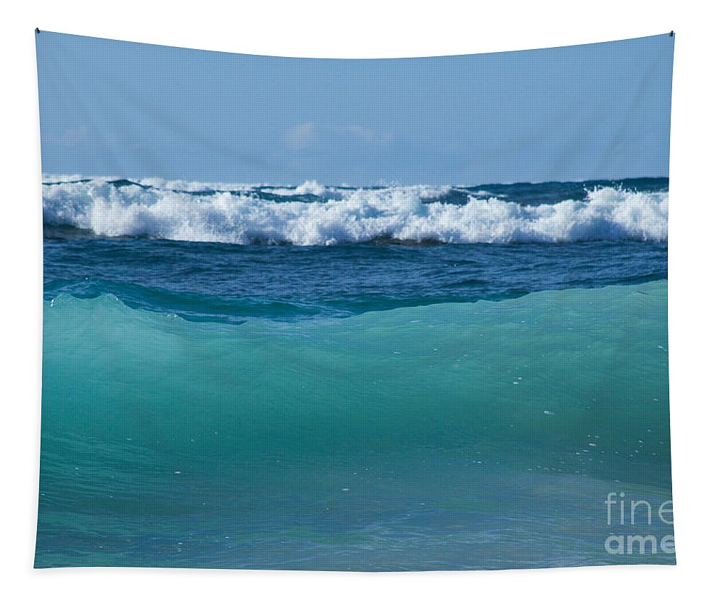 The Sea Tapestry featuring the photograph The Blue Sea by Sharon Mau