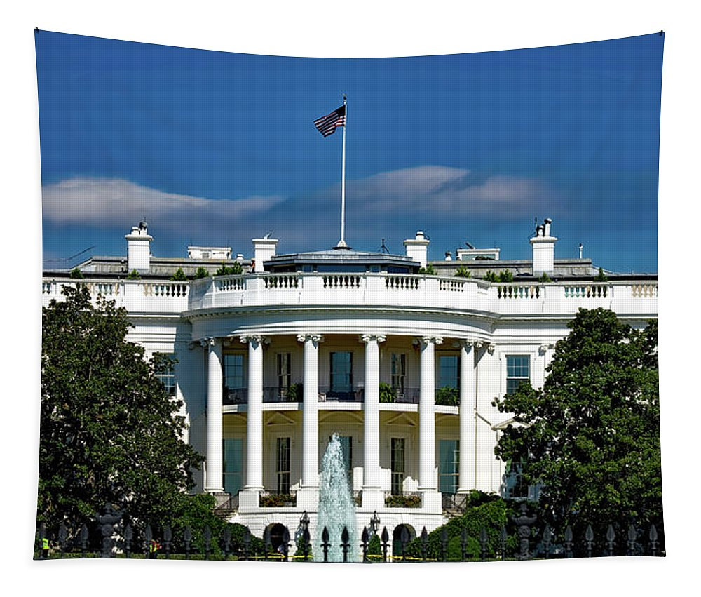 White House Tapestry featuring the photograph The White House by Mountain Dreams
